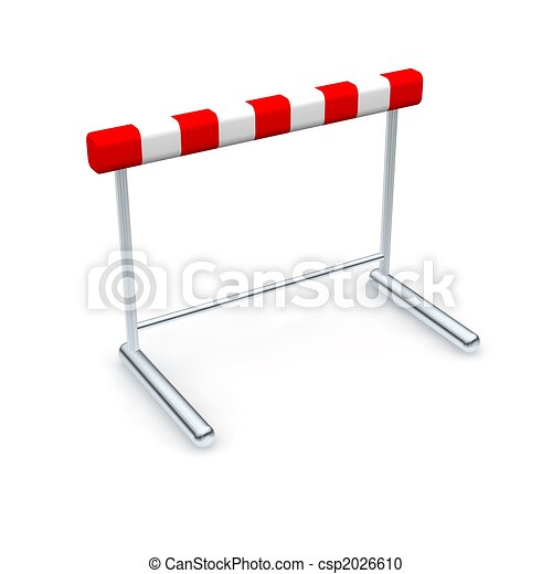 hurdle 3d rendered illustration isolated on white rh canstockphoto com hurdle clips for trailers clipart hurdle pictures