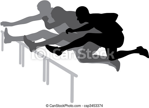 Hurdle race - csp3453374