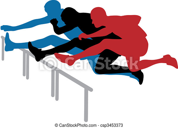 abstract vector illustration of hurdle race vectors search clip rh canstockphoto com hurdle race clipart hurdle jumping clipart