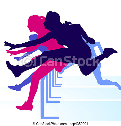 hurdle race women vector clip art search illustration drawings rh canstockphoto com  hurdle clipart free