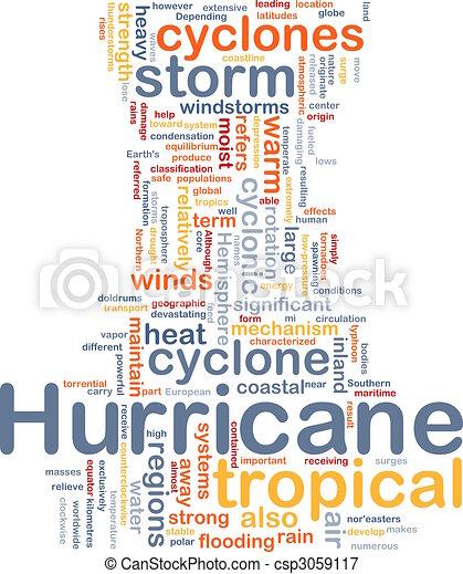 Hurrican weather background concept - csp3059117