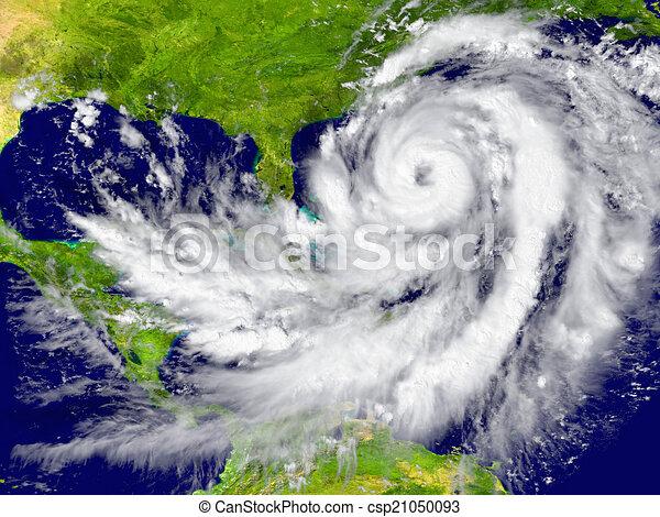Hurricane between Florida and Cuba  - csp21050093