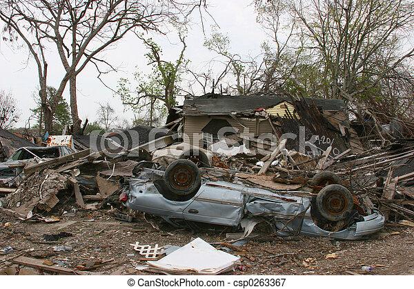 Hurricane Damage - csp0263367
