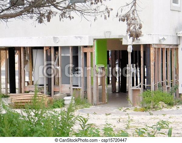 Hurricane House Damage - csp15720447