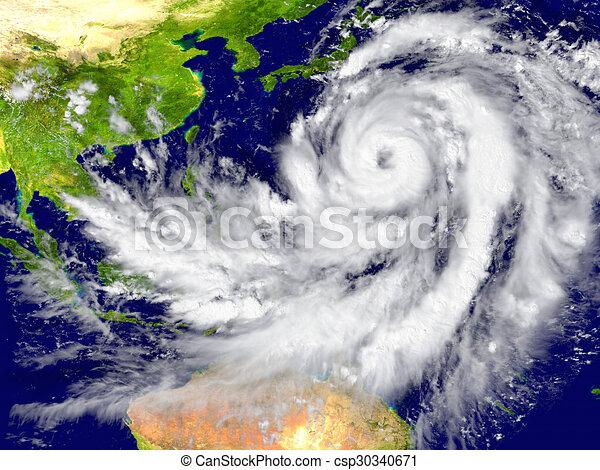 Hurricane north of Australia - csp30340671
