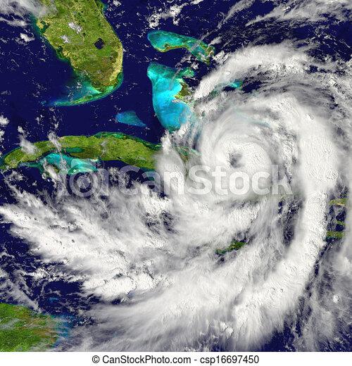 Hurricane over Cuba - csp16697450