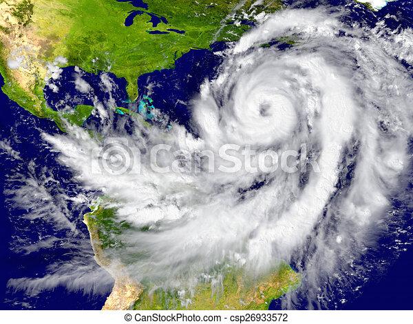 Hurricane over the Atlantic - csp26933572