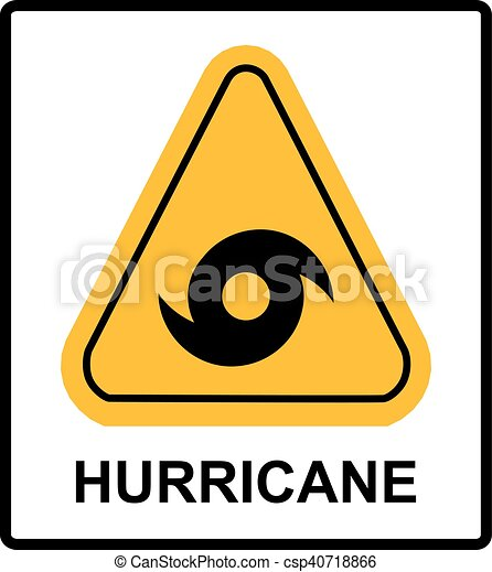hurricane warning sign vector warning banner with symbol in clip rh canstockphoto com warning clipart triangle warning clip art free