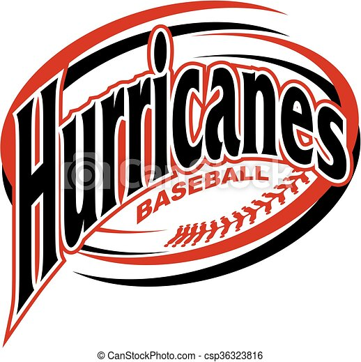 hurricanes baseball team design with swooshes and laces for school rh canstockphoto com baseball logo design templates baseball logo design software