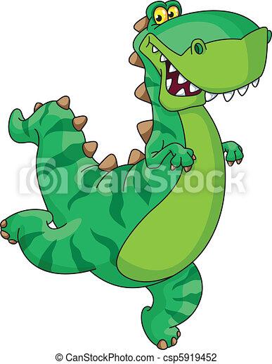 hurry dinosaur - csp5919452