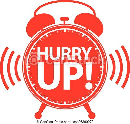 Hurry up alarm clock icon, vector illustration  - csp36300279