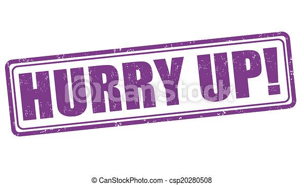 Hurry up stamp - csp20280508