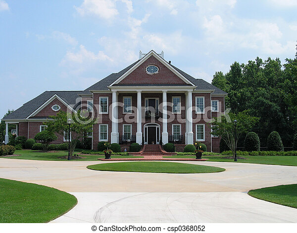 hus, amerikan, tegelsten - csp0368052