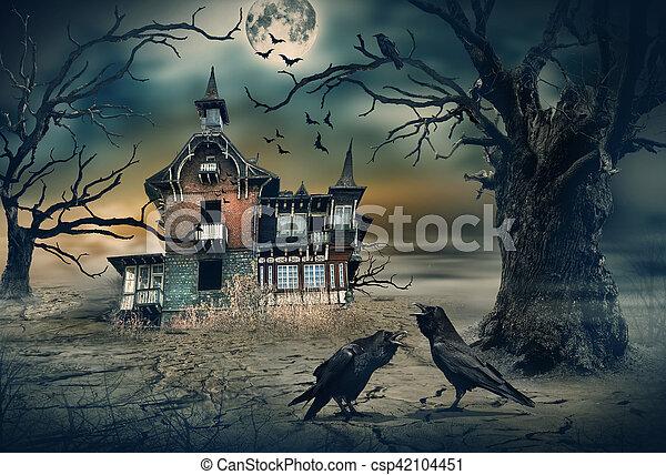 hus, besatt - csp42104451