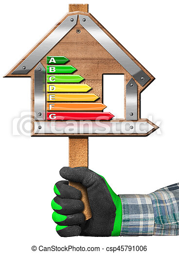 hus, energi, -, underteckna, effektivitet, form - csp45791006
