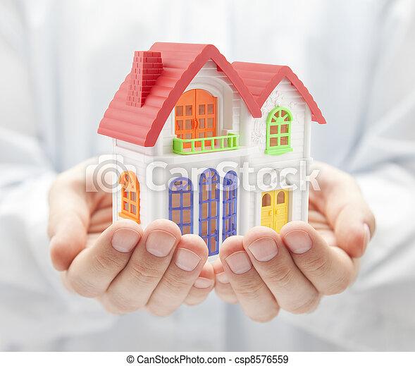 hus, färgrik, räcker - csp8576559