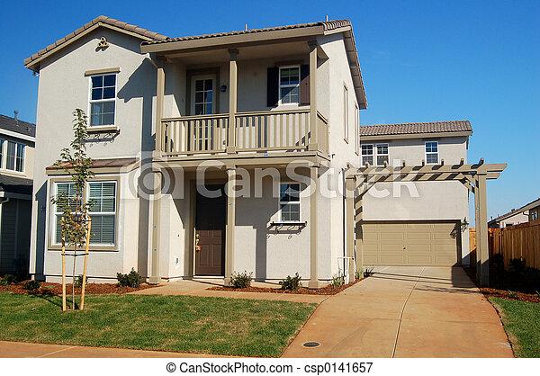 hus, förorts- - csp0141657