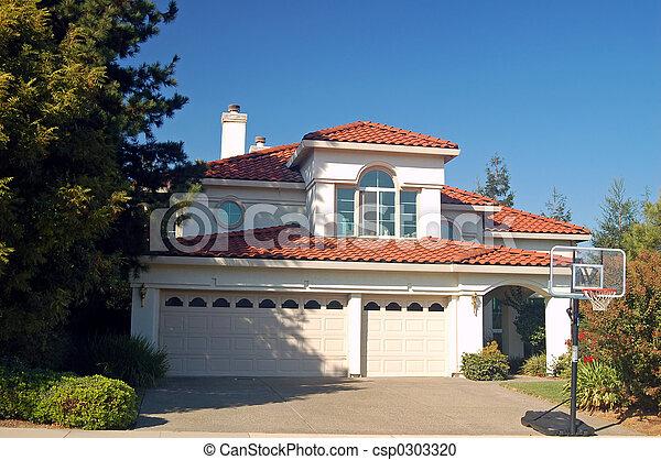 hus, förorts- - csp0303320