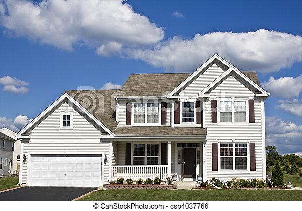 hus, förorts- - csp4037766