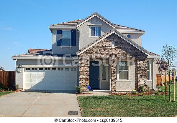 hus, förorts- - csp0139515