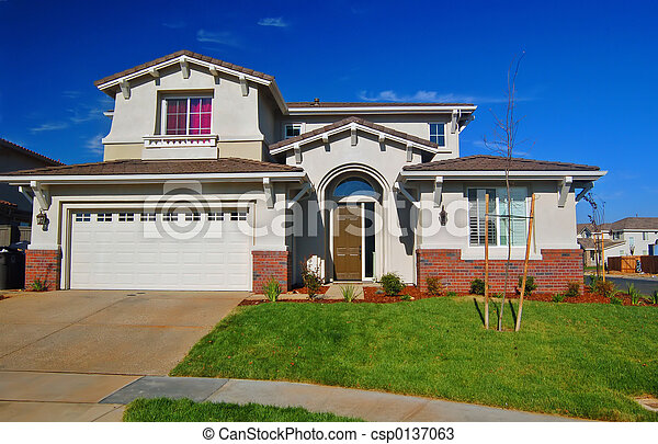hus, förorts- - csp0137063