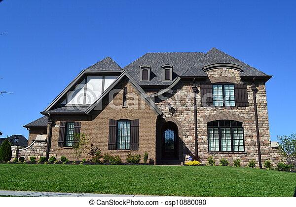 hus, förorts- - csp10880090