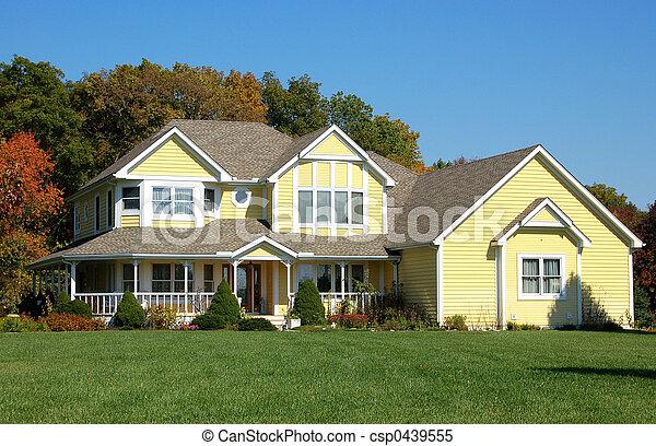 hus, gul - csp0439555
