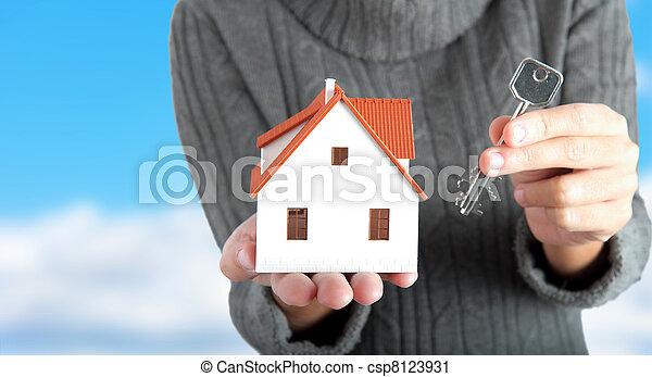 hus, köpa - csp8123931