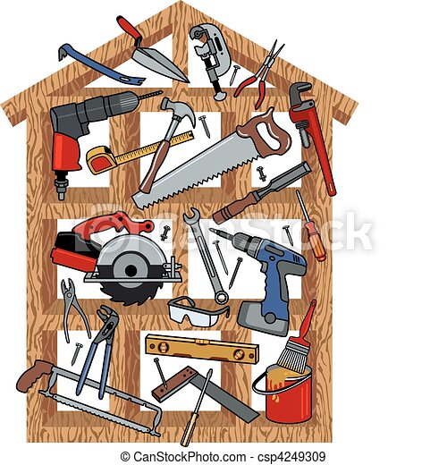 hus konstruktion - csp4249309