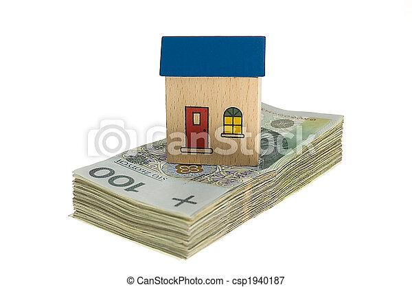 hus, pengar - csp1940187