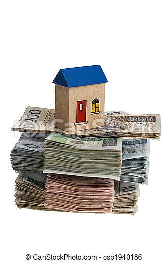 hus, pengar - csp1940186