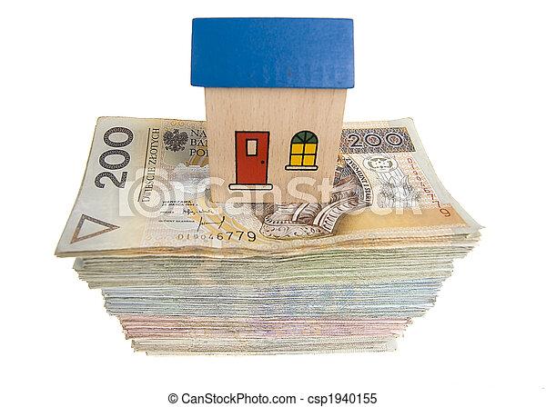 hus, pengar - csp1940155