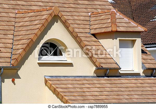 hus, tak, färsk - csp7889955