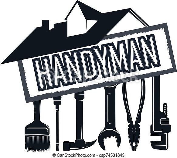 hus, verktyg, tusenkonstnär, reparera - csp74531843