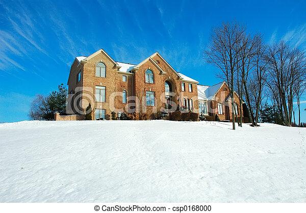 hus, vinter - csp0168000