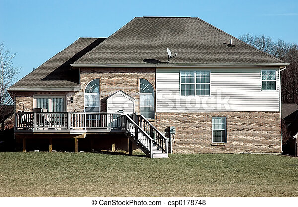 hus, vinter - csp0178748