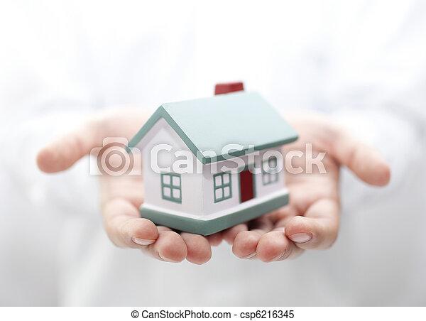 hus, ytlig, dof, hands. - csp6216345
