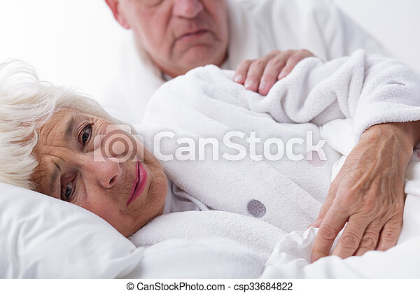 Husband comforting worried wife - csp33684822