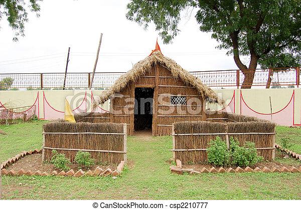 Indian Village Hut