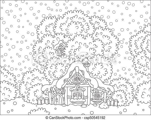 Hutte Neige Couvert Bûche Noël