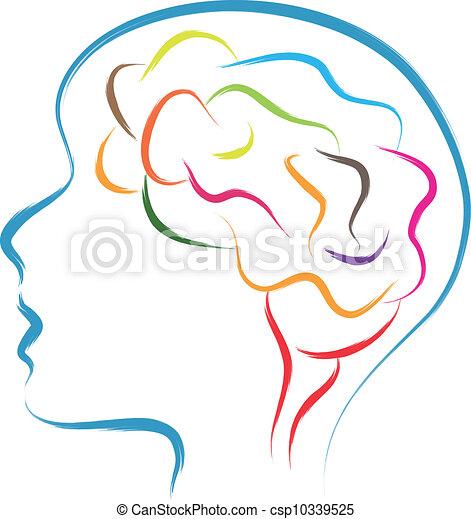 huvud, hjärna - csp10339525