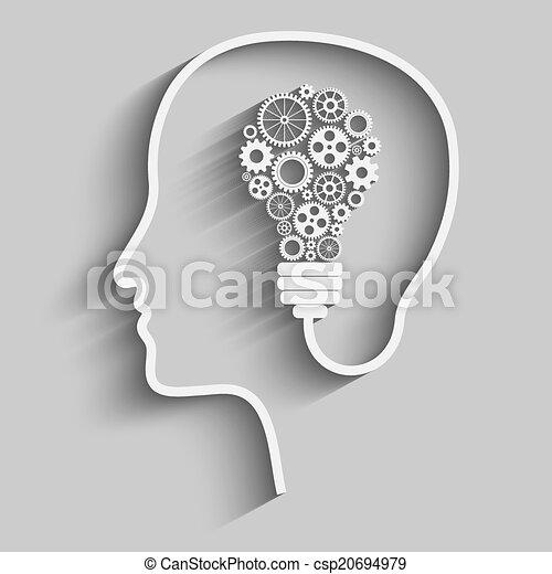 huvud, mänsklig - csp20694979