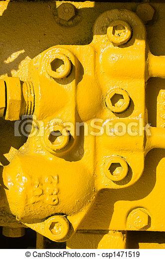 huvuden, gul, enhet, bult - csp1471519