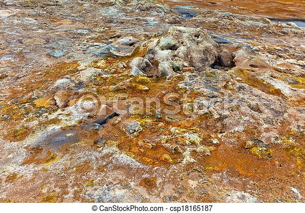 hverir, geothermisch, bereich, island - csp18165187