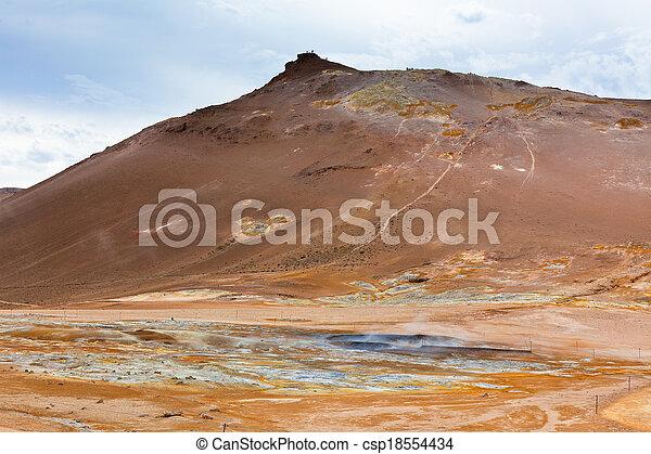hverir, geothermisch, bereich, island - csp18554434