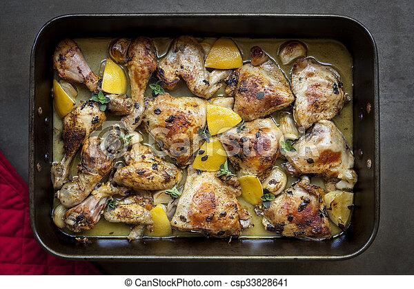 kylling med hvidløg og citron