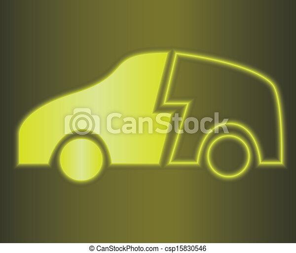 hybrid car - csp15830546