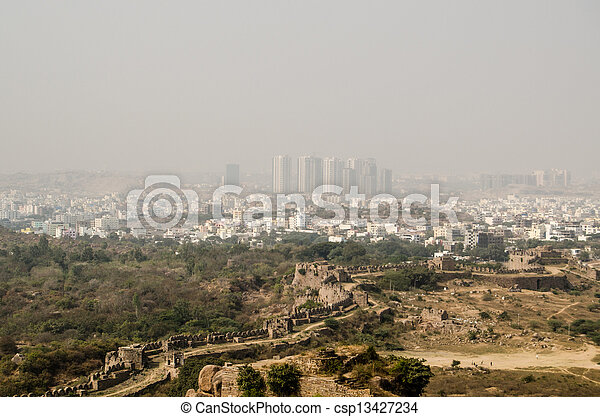 Hyderabad and HiTec City - csp13427234