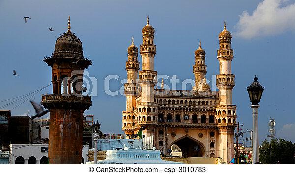 Hyderabad historic architecture - csp13010783