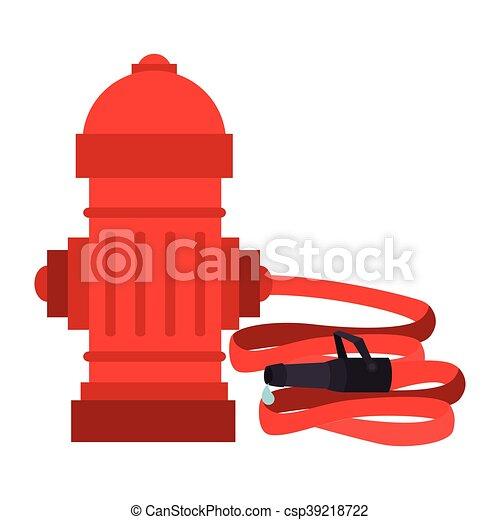hydrant hose tank city icon vector graphic - csp39218722